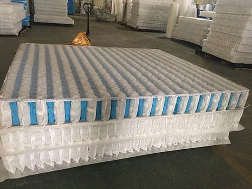 China 3D non-woven cover high carbon steel wire mattress independent spring unit. supplier