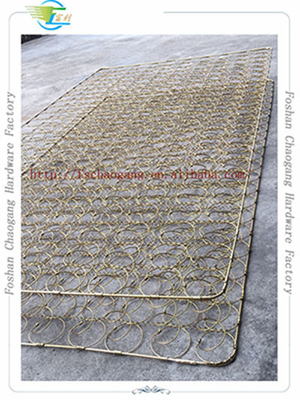 China Mattress Bonnell Coil System With Double Edge Support Butterfly Edge Guard supplier