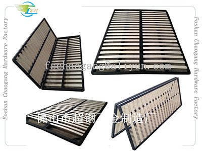 China Hotel Hospital Foldable Metal Bed Frame With King / Queen / Double Twin Size supplier