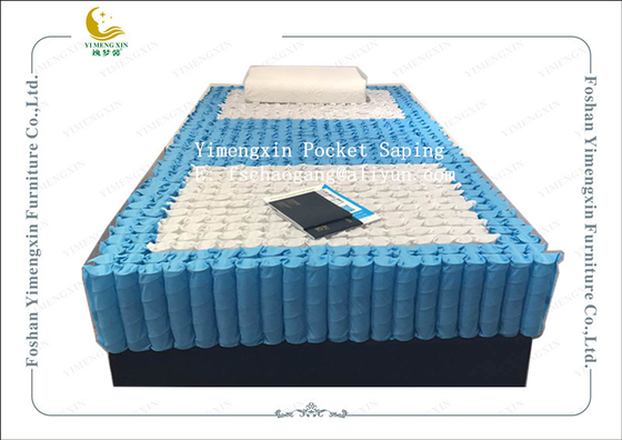 China 3 Zones Combination Pocket Spring Unit For Bed Mattress 178x198x18cm supplier