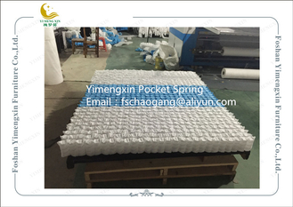 China Mattress Pocket Spring Unit With White / Blue Colour Non Woven Fabric Cover supplier