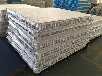 China High Carbon Steel Wire Mattress Pocket Spring Unit With Compressed / Rolled Packing supplier