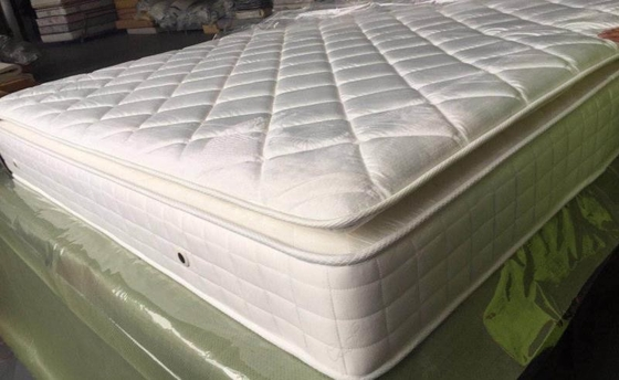 China Sleep Care Pillow Top Mattress Topper , Customized Pillow Top Mattress Protector supplier