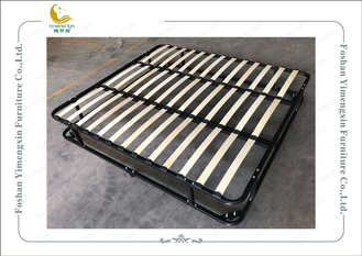 China Double Deck Iron Bed Frame With King Or Queen Size , Knock Down Bed Frame supplier