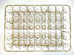 China High Strength Gold Plated Wire Mesh Sofa Seat Springs , Rust Proof Spring Seat Bag Unit supplier