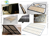 China Foldable Metal Slatted Bed Base , Adjustable Bed Frame All Size Available factory