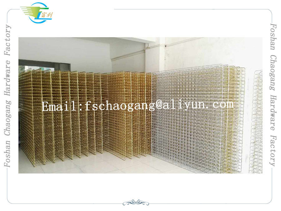 Mattress Electroplate Gold Plated Springs Net Coil Heat And Anti - Rust Treatment