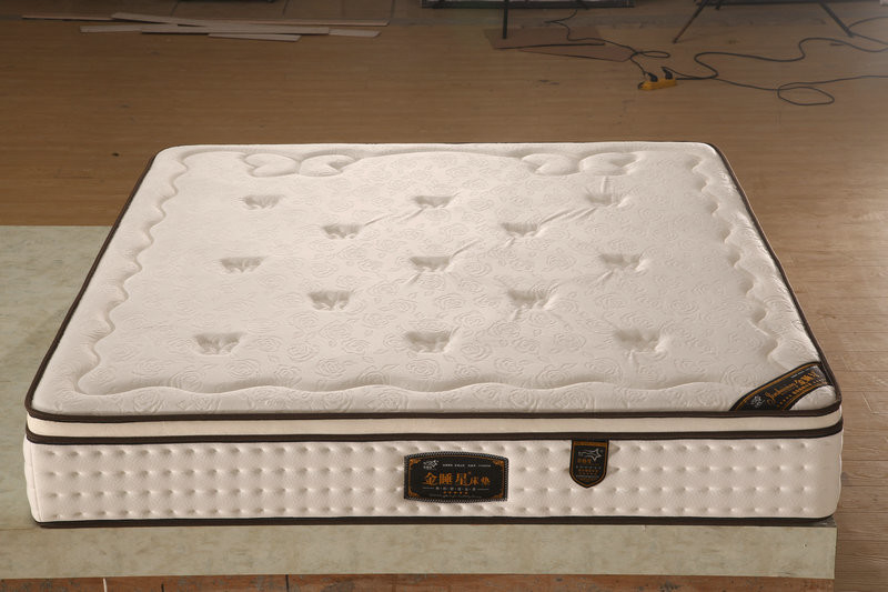 Latex Top Pocket Spring Mattress Knitted Fabric Back Support And Alignment