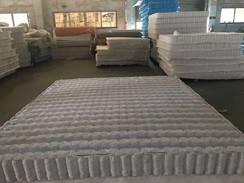 3D non-woven cover high carbon steel wire mattress independent spring unit.