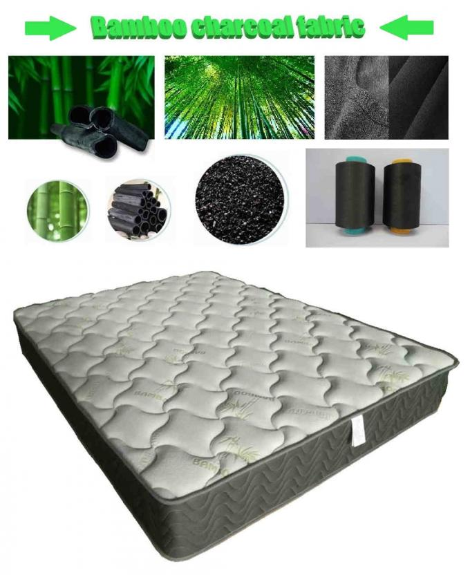 Knitted fabric plus bamboo charcoal pocket pocket spring mattress, eco-friendly fabric