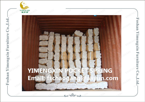 China Professional Pocket Upholstery Spring Units For Sofa Seat Compressed Packing distributor