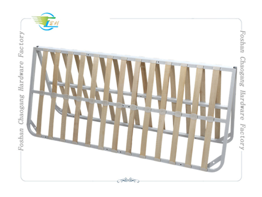 China Double Fold Away Metal Slatted Bed Base , Strong Fold Up Metal Bed Frame distributor