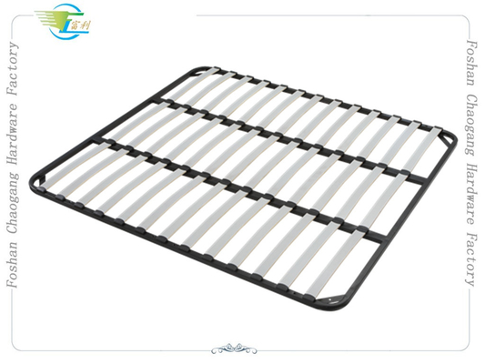 China Welded Metal Slatted Bed Base Framework , Basic Wood Slat Bed Frame factory