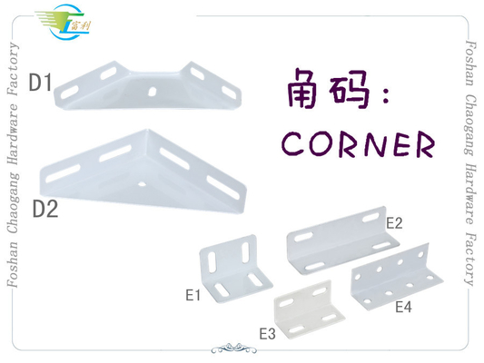 China Angle Iron Bed Frame Accessories Metal Triangle Corner With Epoxy Powder Coated factory