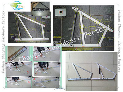 China Angle Iron Hydraulic Pressure Bed Frame Support For Lift Up Bed distributor