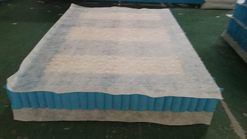 Pocket  Spring  Unit with non woven fabric cover for mattress in double size