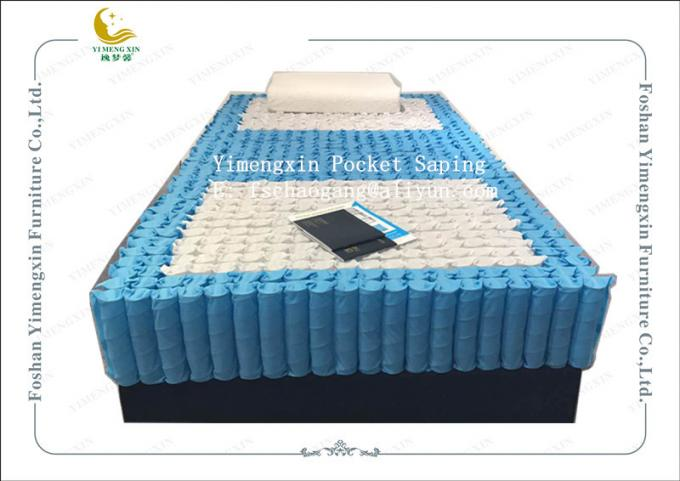 3 Zones Combination Pocket Spring Unit For Bed Mattress 178x198x18cm